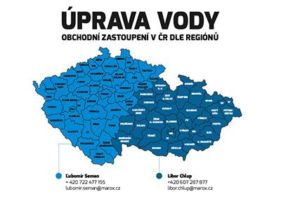 mapa voda cr th